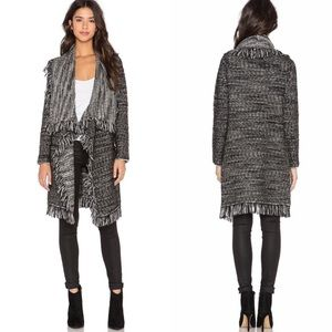 VINCE. | Frayed Edged Drape Front Cardigan Sweater